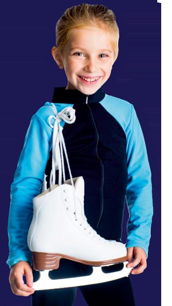 ילדה בחוג החלקה על הקרח
