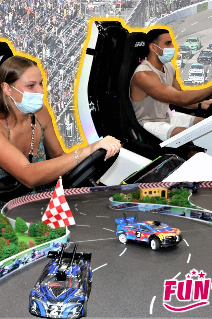 אטרקציה מרוץ מכוניות NUSCAR