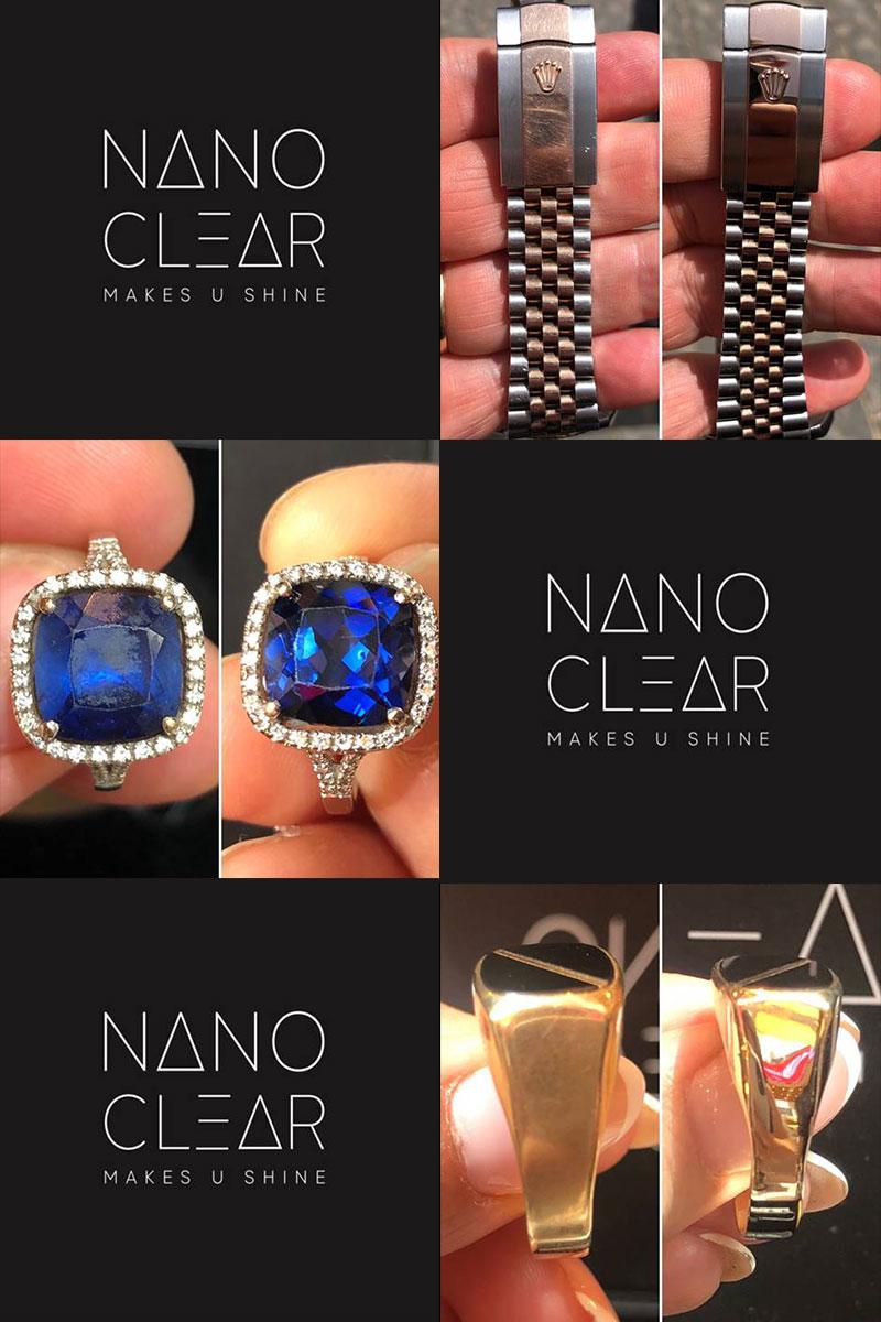 דוגמאות לפני ואחרי nano clear